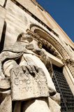 Statue of St. Justin's Cathedral in Chieti Stock Images