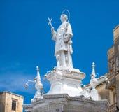 Statue Of St. Lawrence On Misrah Ir-Rebha Stock Photos