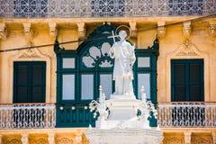 Statue Of St. Lawrence On Misrah Ir-Rebha Stock Photo