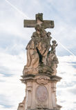 Statue of St. Luthgard on the Charles Bridge in Prague, Czech Republic Stock Image