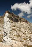 Statue of st mary at cabane de moiry Stock Photography