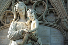 Statue St. Mary and Jesus Royalty Free Stock Photo