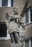 Statue of St. Michael stock image