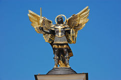 Statue of St. Michael the patron, Kiev Royalty Free Stock Photo