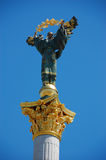 Statue of St. Michael the patron, Kiev Royalty Free Stock Photos