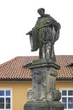 Statue of St. Nicholas of Tolentino. Charles Bridge in Prague. Royalty Free Stock Photos