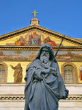 Statue of St. Paul holding a sword Royalty Free Stock Photos