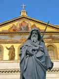 Statue of St. Paul holding a sword Stock Photography