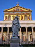 Statue of St. Paul holding a sword Stock Image