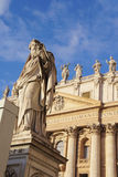 Statue of St. Paul in Vatican. Statue of St. Paul in front of Saint Peter's Basilica, Vatican Stock Images