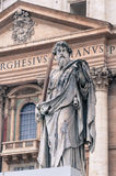 Statue of St. Paul in Vatican, Rome Royalty Free Stock Photo