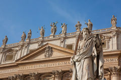 Statue of St. Paul in Vatican Royalty Free Stock Photos