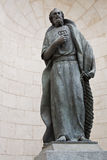 Statue of St Peter. In a niche in the Church of Almudena in Madrid, Spain Royalty Free Stock Photo