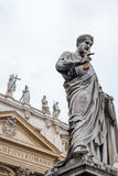 Statue of St. Peter. In front of Saint Peter's Basilica, Vatican Royalty Free Stock Images