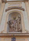 Statue of St Peter of Holy Cross Church in Warsaw, Poland Royalty Free Stock Image