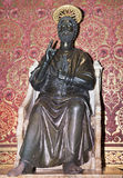 Statue of St. Peter  made Arnolfo di Cambio in the 13th century Stock Images