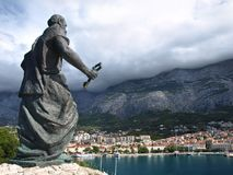 Statue of St. Peter in Makarska Stock Photo