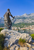 Statue of St. Peter in Makarska, Croatia Stock Photo