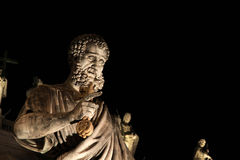 Statue of St. Peter at Night Stock Photography