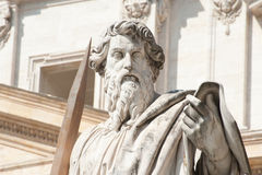 Statue of St.Peter outside The Vatican Stock Photos