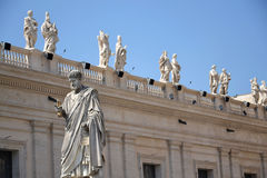 Statue of St. Peter in Vatican Stock Images