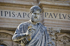 Statue of St Peter. In the Vatican City, Rome, Italy Royalty Free Stock Image
