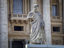 Statue of St. Peter in the Vatican. Is located in front of St Peter's Basilica Royalty Free Stock Photo