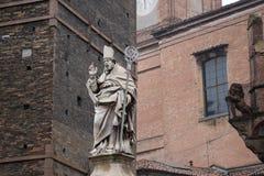 Statue of St Petronius. Bologna. Italy. Stock Photography