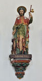 Statue of St. Rochus in church Saint Walburga Royalty Free Stock Image