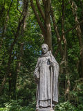 Statue of St Samson Caldey Island Royalty Free Stock Photos