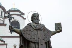 Statue of St. Sava in Belgrade Stock Images
