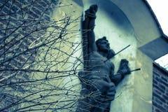 Statue St. Sebastian in Vysehrad, Prag, Tschechische Republik lizenzfreie stockfotografie