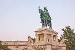 Statue of St. Stephen in Budapest Royalty Free Stock Photos
