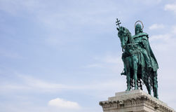 Statue of St. Stephen, Budapest Royalty Free Stock Photography
