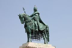 Statue of St. Stephen in Budapest. Hungary stock images