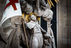 Statue at St Stephens Cathedral in Vienna Austria Stock Image
