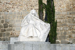 Statue of St. Teresa in Avila Spain Stock Image