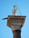 Statue of St. Theodore, Venice Stock Images