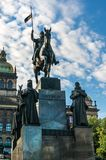 Statue of St. Wenceslas in Prague Stock Photo