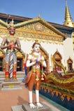 Statue standing outside Wat Chayamangkalaram located in Penang. PENANG, MALAYSIA- 29 DECEMBER, 2016: Statue standing outside Wat Chayamangkalaram located in stock image