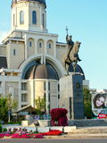 The statue of Stefan Cel Mare,Bacau. Stock Photo
