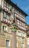 Statue in Stein am Rhein Stockfoto