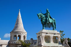 Statue of Stephen I. Budapest, Hungary Stock Photos