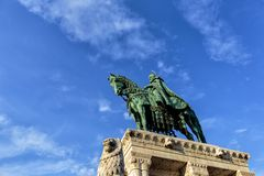Statue of Stephen I of Hungary at Fishermen's Bastion, Budapest Stock Image