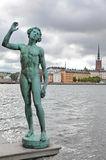 Statue in Stockholm, Sweden Stock Photography