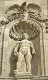 Statue of stone at Heroes' Square in Budapest Stock Photos