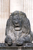 Statue of stone lion Royalty Free Stock Images