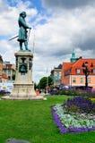 Statue on Stortorget, Karlskrona, Sweden Royalty Free Stock Images