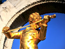 Statue of Strauss composer in Vienna Stock Photography