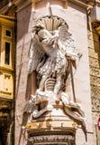 Statue on a street of Valletta Stock Photography